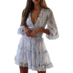 🆕️ Long Sleeve Ruffle Layer Swing Mini Dress